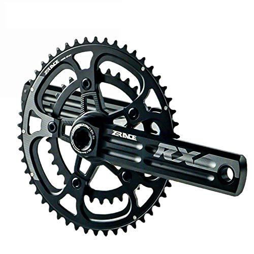 YGXICN Bielas MTB La Velocidad en Carretera Chainset Cadena Plato de manivela Protector Bielas Bicicleta (Size : 170mm 53 39T)