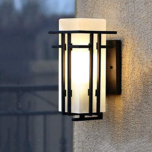 Wandlantaarn, wandlamp, kristal, wandlamp, spiegel, gevel, vierkant, industrieel, buitengebruik, regenwandlamp, wandlamp, retro, buitenverlichting, villa, wandverlichting, veranda, vintage Hauteur: 30cm