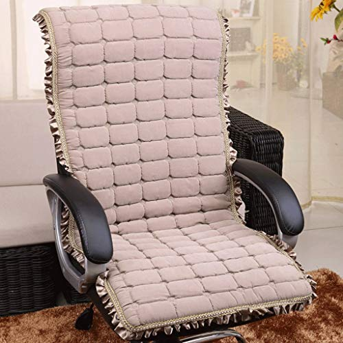 Thickened One-Piece Cushion Cushion with Lace Design Machine Washable Home Office Chair, Car Seat, Reclining Chair Best Cushion - Send Handrail (Color : B, Size : 45CMX132CM)