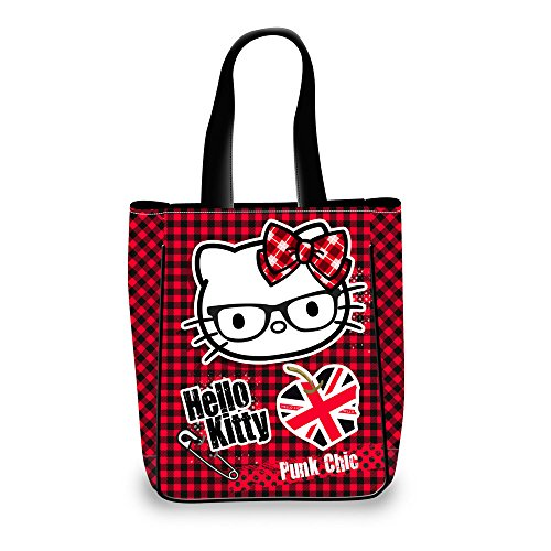 Karactermania Hello Kitty Vichy Bolso Bandolera, 30 cm, Morado