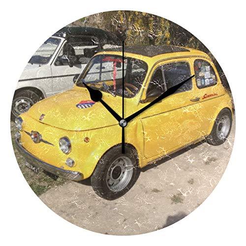 MIKA フィアット壁掛け時計 おしゃれ 掛け時計 壁掛時計 ウォールクロック 掛時計 クロック デザイン時計 ...