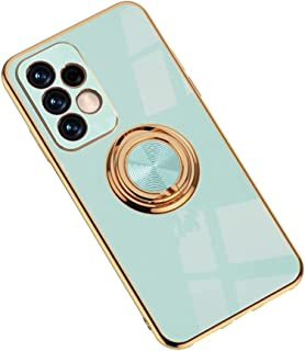 Hicaseer Case for Galaxy A52 4G,Ultra-Thin Ring Shockproof Flexible TPU Phone Case with Magnetic Car Mount Resist Durable ...