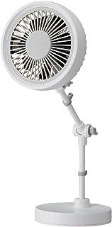 ムード 卓上扇風機 デスクスタンドファン 10cm 2電源(AC,USB) ホワイト FMDS-101U WH