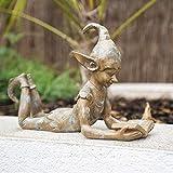 garden mile® Lesen der Elfenverzierung für den Garten | Gartendekoration