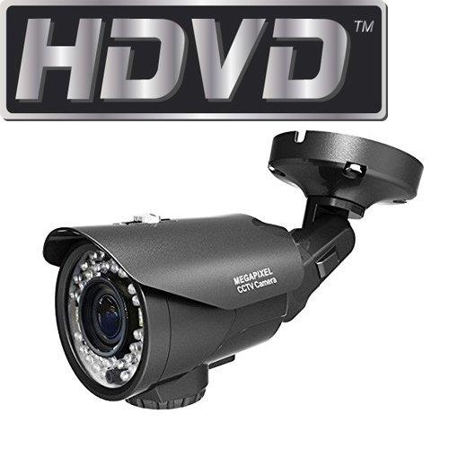 HDVD HDVD-TB2VK 720P 1.3 Megapixel HD TVI CCTV Security Surveillance Bullet Pipe Outdoor/Indoor Camera 2.8-12mm Lens 36IR (Upto 120ft) DC 12V