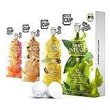 My Tea Cup – VITAL BOX: 4 x 10 KAPSELN BIO-TEE I 4 SORTEN (PFEFFERMINZ & KRÄUTER) I 40 Kapseln für Nespresso®³-Kapselmaschinen I 100% industriell kompostierbare & nachhaltige Teekapseln – 0% Alu