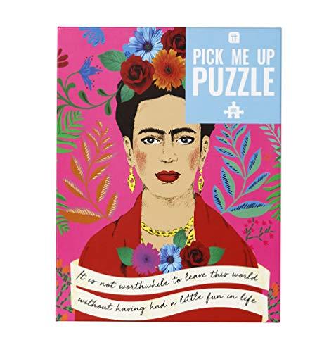 Talking Tables PUZZ-PMU-FRIDA 500-teilige rosa bunte Frida Kahlo Porträt Zitat Puzzle & Poster | Illustriert | Regentag, Aktivitäten zu Hause, Geburtstagsgeschenk, Weihnachtsgeschenk, Boho, Wandkunst