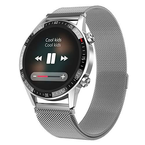 HDSJJD Smartwatch, Estilo De Doble Sistema, Reloj A Prueba De Agua Bluetooth con Ritmo Cardíaco Y Monitoreo De Presión Arterial, Múltiples Modos Deportivos, Compatible con Android, iOS,C