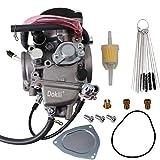 Dokili Carburador de repuesto para Yamaha YFM350 YFM400 YFM450 Bruin Big Bear Wolverine Kodiak Grizzly 33 mm # 5UH-E4101-11-00