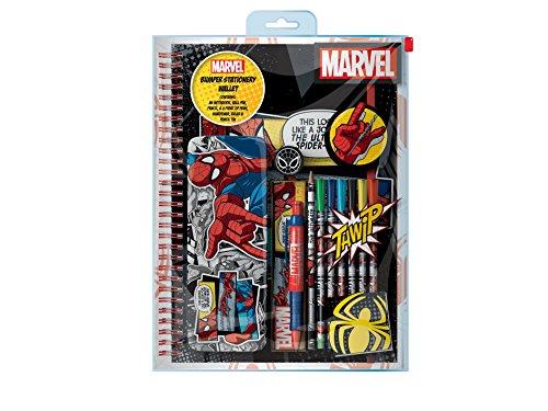 Marvel Spider Man Classic Bumper Stationary Wallet, Black
