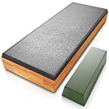 Sharp Pebble Classic Leather Strop kit with Polishing Compound- Knife Stropping Block for Sharpening & Honing- Knives, Straight Razor, Woodcarving Chisels - with eBook