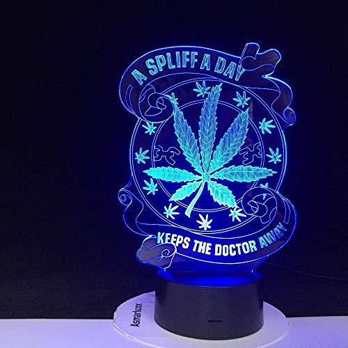 Mantiene al maestro lejos de casa bombilla de luz LED 3D luz de noche bombilla de luz de noche LED efecto de luz visual hermoso hacer 3224