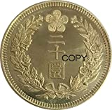 Wjtence Korea Japanese Protectorate Kuang Mu Gold 20 Won Year 10 1906 Brass Metal Copy Coins for Copy Ornaments Collection Gifts