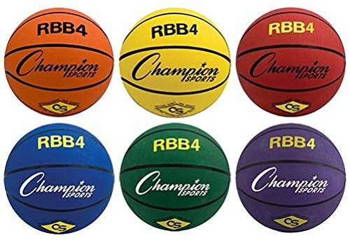 For Sale! Olympia Sports Intermediate/Women Sized Colored Basketball (Set of 6, One of Each Color)