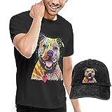 YGYP T-Shirt e Cappello da Cowboy da Uomo Attenzione ai Pitbull T-Shirt e Cappelli da Base...