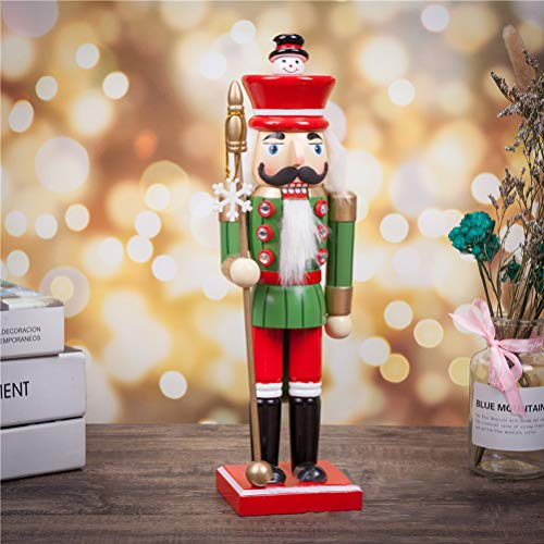 WINBST Nutcracker King Figurine Christmas Decoration Reusable Christmas Calendar Countdown to Christmas