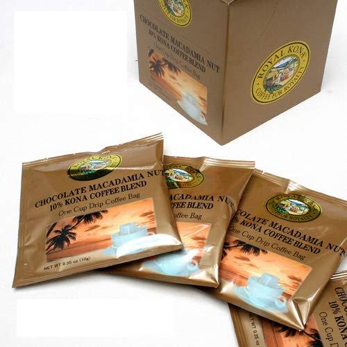 【ROYAL KONA COFFEE】ロイヤルコナコーヒー ワンドリップバッグ 10g ×10袋 (チョコレートマカダミアナッツ)