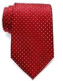 Retreez Corbata de microfibra con puntitos para hombres Rojo vino con el punto rosa