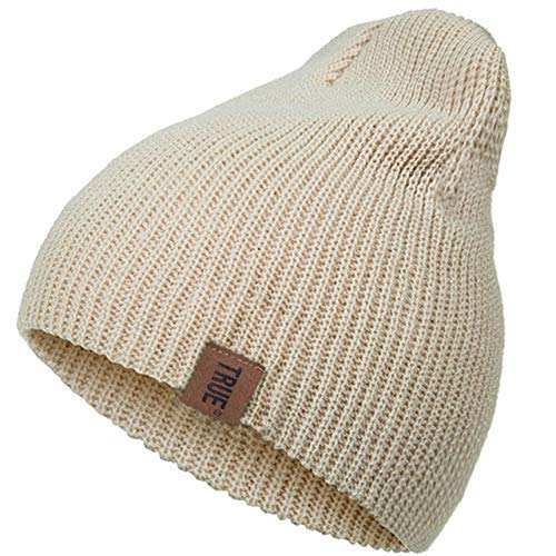 Strickmütze Wintermütze Feste Strickmütze Wintermützen für Frauen Männer Unisex Baumwolle Skullies Mützen Hut Kappe Hedging Kappe Farbe 5, W-Y