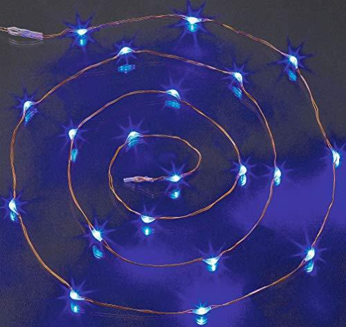 HELLUM 20er LED-Lichterkette blau batteriebetrieben mit Schalter