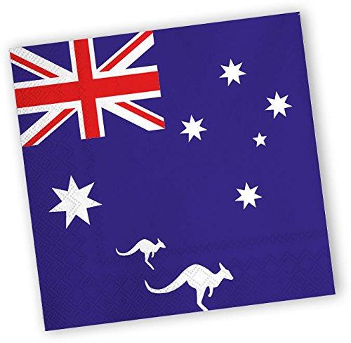 20 Servietten mit Australien Motiv, 33 x 33 cm