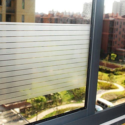 Lifetree Fensterfolie Streifen Selbstklebend ohne Klebstoff 2D Statisch Folie Sichtschutzfolie 90 * 200CM
