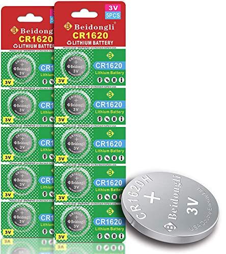 CR1620 3 Volt High Capacity Lithium Coin Battery (10 Batteries)