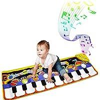 ピアノプレイマット、キッズキーボードミュージックプレイマットおもちゃ、3〜36ヶ月の面白いダンスマット赤ちゃん幼児男の子と女の子ギフト