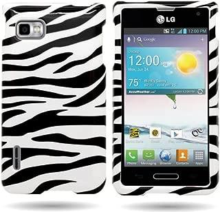 CoverON Slim Hard Case for LG Optimus F3 Metro PCS/T-Mobile MS659 with Cover Removal Tool - (Black White Zebra)