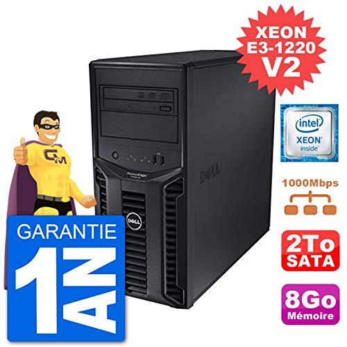 Dell Server Poweredge T110 II Xeon Quadcore E3-1220 V2 8gb 2to Perc H200 Sata (Reconditioned Certified)