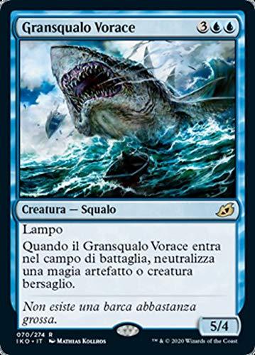 Magic : The Gathering MTG - Voracious Greatshark - Gransqualo Vorace - Ikoria: Lair of Behemoths IKO 70/388 Foil Italiano(Italian)