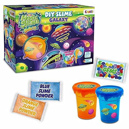 CRAZE MAGIC SLIME DIY Galaxy Box Leuchtender Schleim zum Selbermachen Leuchteffekt Beginner Set Glibber Spielspaß BPA Frei 23150