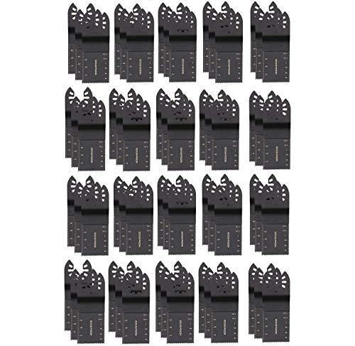 50 pezzi di lame professionali per sega, accessori oscillanti per Fein Multimaster, Makita, Rockwell, Bosch artigiani e molto altro (34 mm)