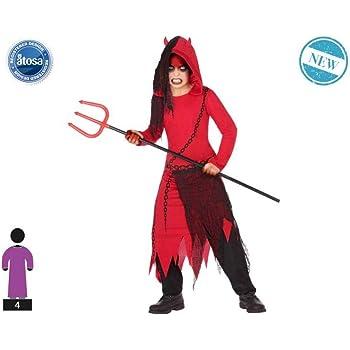 Atosa-55607 Atosa-55607-Disfraz Demonio para niño Infantil-Talla ...