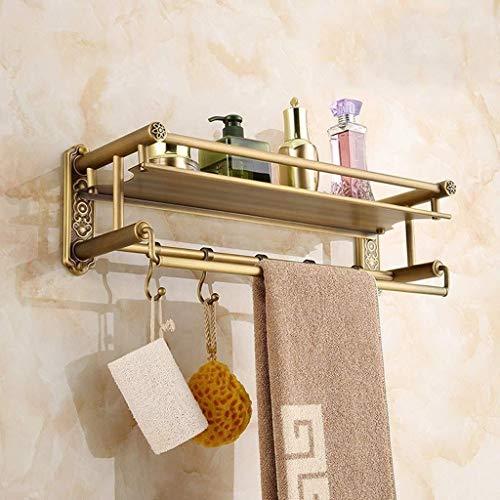 Fantastic Prices! AINIYF Bathroom Shelf 1Tier Tempered Glass Shower Shelf Storage Organizer 304 Stai...