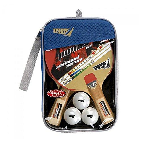 Sport One Set Ping Pong Power, Racchette Gioventù Unisex, Nero-Rosso, 17x25x3 cm