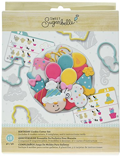 American Crafts AMC Sugarbelle Birthday Cookie Cutter Kit
