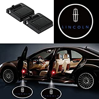 bearfire 2 Pcs Wireless Car Door Led Welcome Laser Projector Logo Light Ghost Shadow Light Lamp Logos (Lincoln)