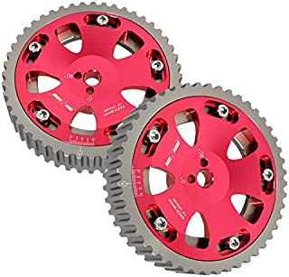 2 Piece Red Adjustable Cam Shaft Gears For 4g63 Dohc Engines