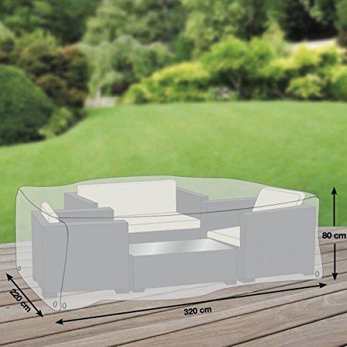 Schutzhuellenprofi - Custodia protettiva premium per area lounge / tavolo e sedie, in tessuto di poliestere Oxford 600D, misura XL (320 x 220 cm), colore: Grigio chiaro
