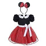 CHICTRY Baby Mädchen Kleidung Set 2tlg. Prinzessin Kostüm mit Ohren Haarreif Polka Dots festlich...