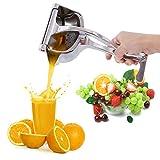 Manual Juicers, Stainless Steel Lemon Squeezer, Heavy Duty Hand Squeezer, Manual Citrus Press Juicer for Orange Juice, Apple Juice (Silver)