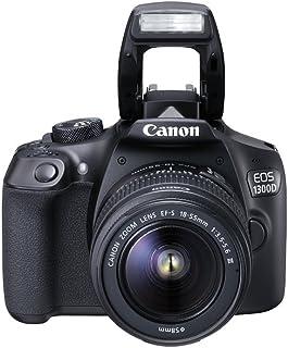 Canon EOS 1300D - Cámara réflex de 18 Mp (pantalla de 3 Full HD 18-55 mm f/3.5-5.6 NFC WiFi) color negro - Kit con objetivo EF-S 18-55 mm DC III (versión europea)