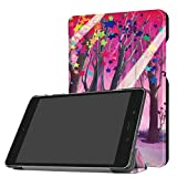 for ASUS ZenPad Z8s Smart Cover, Tri-Fold Ultra Slim Stand Leather Case with Auto Wake up/Sleep Function for Verizon ASUS ZenPad Z8s ZT582KL P00J (2017 Release) 7.9 inch Tablet (Star Tree)