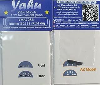 Yahu Model 1:72 Bucker Bu-131 RLM66 Color Instrument Panel for AZ Model #YMA7286