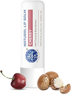 The Moms Co. Natural Cherry Lip Balm I Non Sticky I Protects & Nourishes Dry Chapped Lips I Shea & Cocoa Butter( 5gm) (Che...
