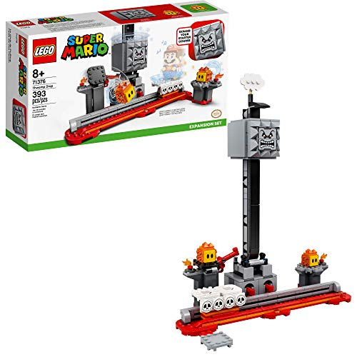 LEGO Super Mario Thwomp Drop Expansion Set 71376 Building Kit; Collectible Playset for Creative Kids to Add New Levels to Their Super Mario Starter Course (71360) Set (393 Pieces)