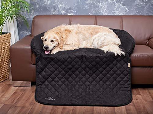 Knuffelwuff 13086 Sofaschutz und Hundematte, S-M, 85 x 70 cm, berry schwarz