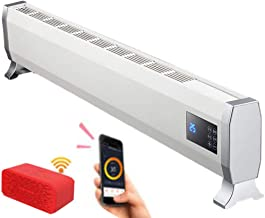 NFJ Calentador, Calentador De Placa Base Interior con Control Remoto Inteligente WiFi Y Pantalla HD, con Calentadores De Convección De Protección contra Sobrecalentamiento,B