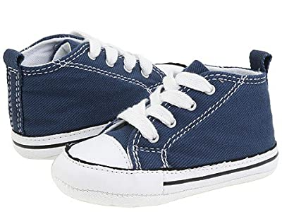 Converse Kids Chuck Taylor(r) First Star Core Crib (Infant/Toddler) (Navy Canvas) Kids Shoes